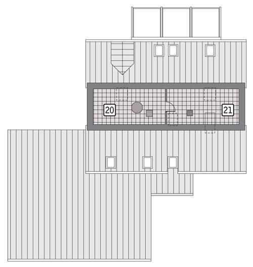 Rzut strychu POW. 42,2 m²