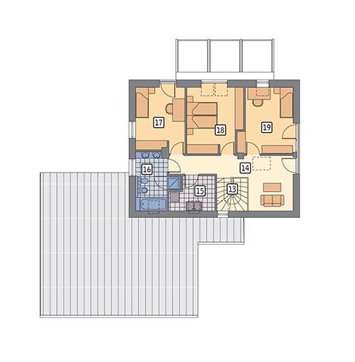 Rzut poddasza POW. 76,3 m²
