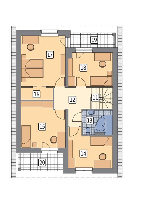 Rzut poddasza POW. 87,6 m²