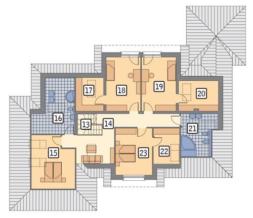 Rzut poddasza POW. 158,9 m²