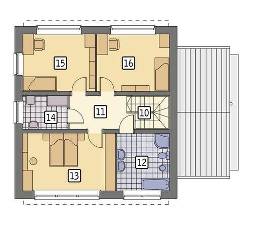Rzut piętra POW. 72,7 m²