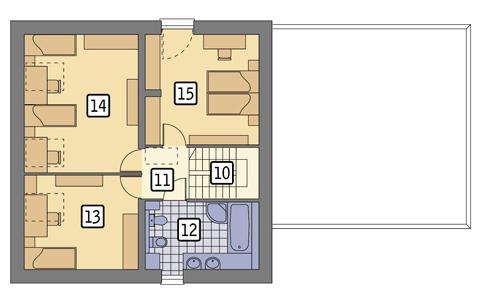 Rzut poddasza POW. 71,9 m²