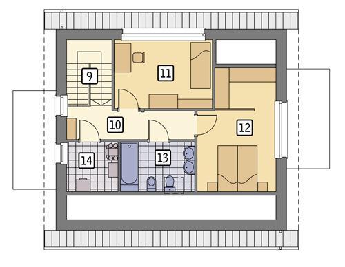 Rzut poddasza POW. 50,6 m²