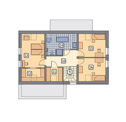 Rzut poddasza POW. 80,7 m²