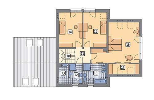 Rzut poddasza POW. 95,5 m²
