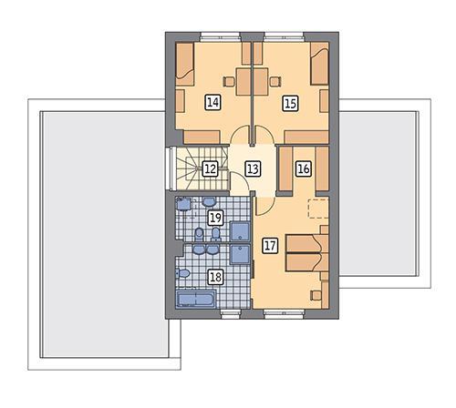 Rzut poddasza POW. 75,0 m²