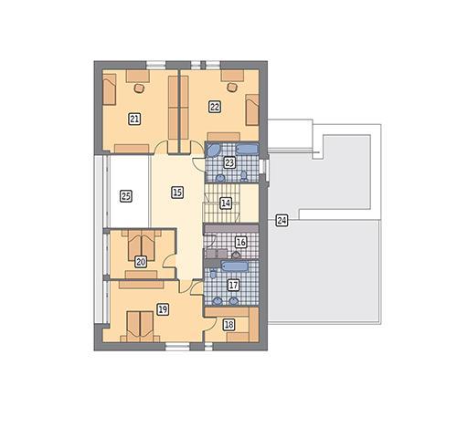 Rzut poddasza POW. 196,5 m²