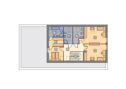 Rzut poddasza POW. 86,3 m²
