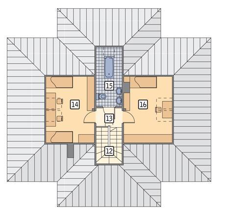Rzut poddasza POW. 48,6 m²