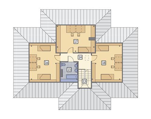 Rzut poddasza POW. 93,0 m²
