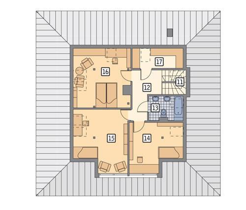 Rzut poddasza POW. 94,2 m²