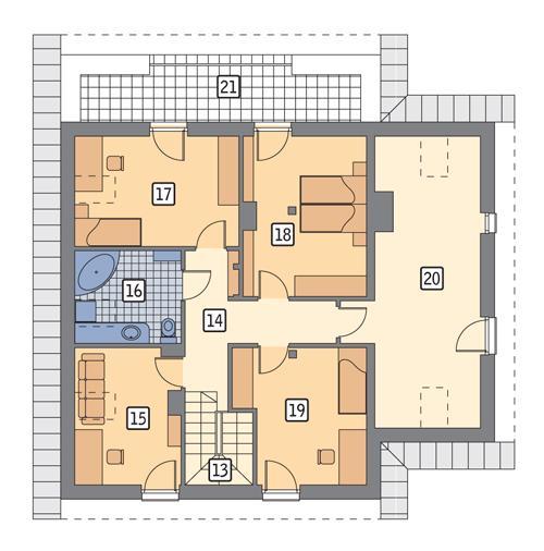 Rzut poddasza POW. 116,0 m²