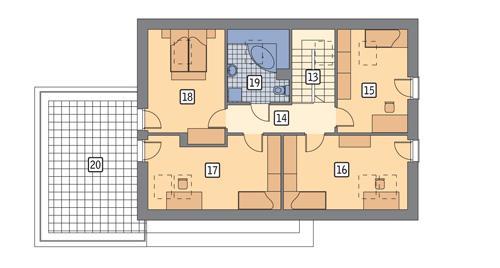RZUT PODDASZA POW. 114,5 m²