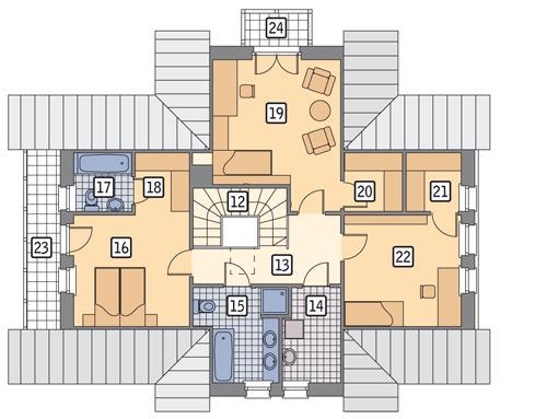 Rzut poddasza POW. 94,8 m²