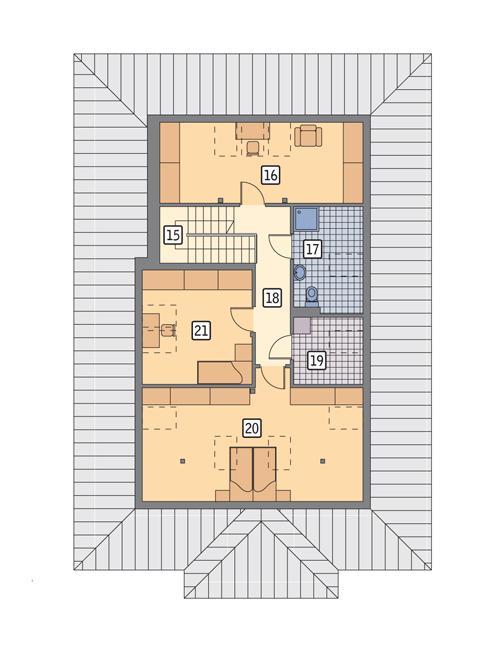 Rzut poddasza POW. 96,2 m²