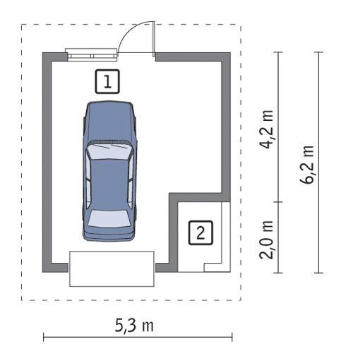 Rzut parteru POW. 25,0 m²