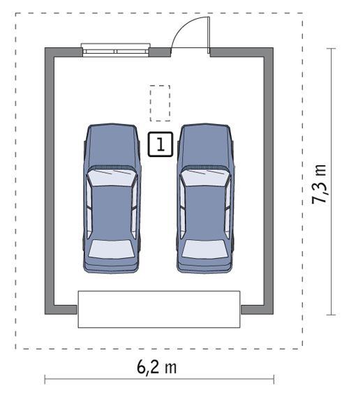 Rzut parteru POW. 39,3 m²