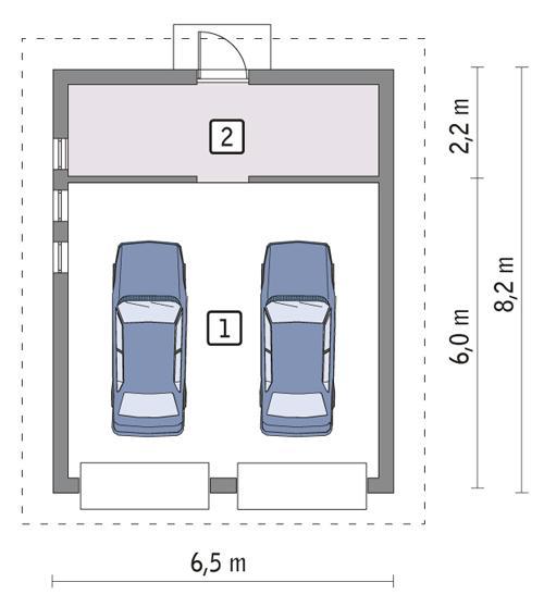Rzut parteru POW. 45,1 m²