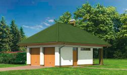 Garaż ze schowkiem i wiatą rekreacyjną