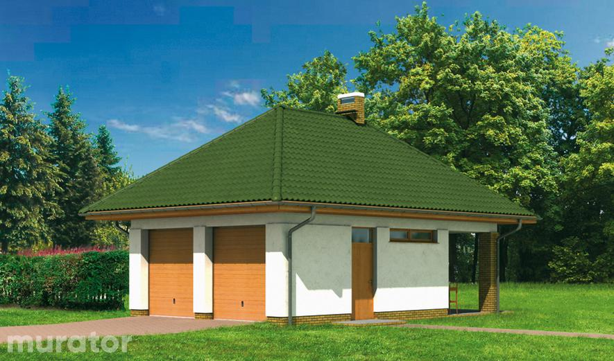 G10 Garaż ze schowkiem i wiatą rekreacyjną