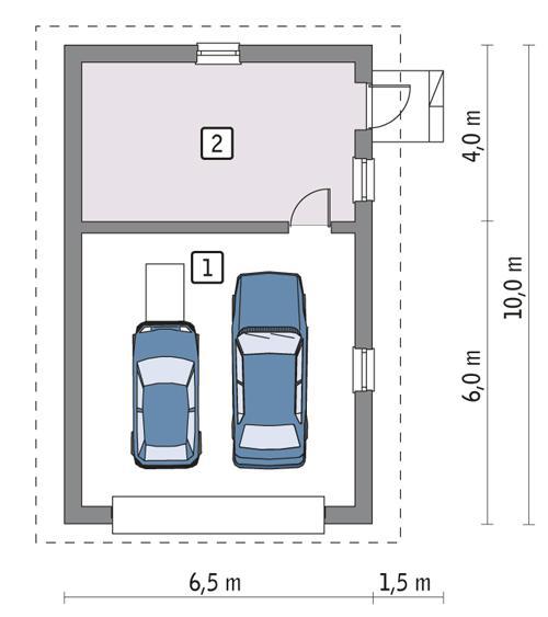 Rzut parteru POW. 51,9 m²