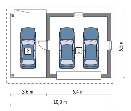 Rzut parteru POW. 32,8 m²
