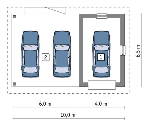 Rzut parteru POW. 19,1 m²