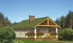 Budynek gospodarczy z sauną i wiatą rekreacyjną (podpiwniczony)