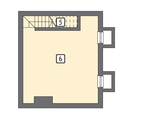 Rzut piwnicy POW. 36,9 m²
