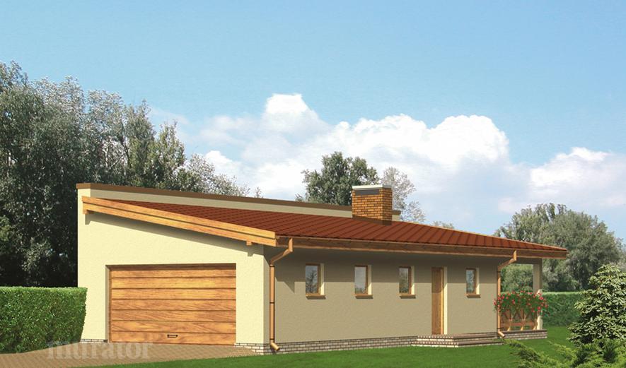 G24 Garaż z częścią mieszkalną i  wiatą rekreacyjną