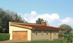 Garaż z częścią mieszkalną i  wiatą rekreacyjną