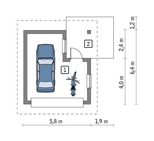 Rzut parteru POW. 24,6 m²