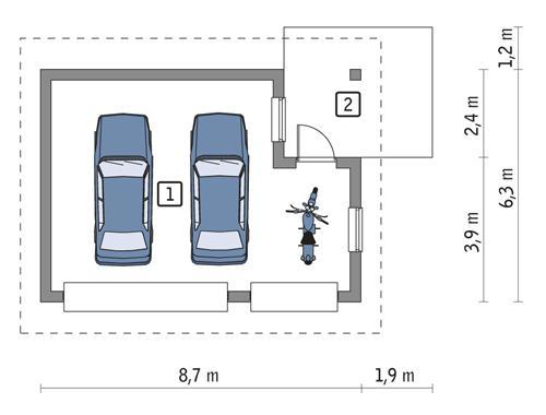 Rzut parteru POW. 41,5 m²