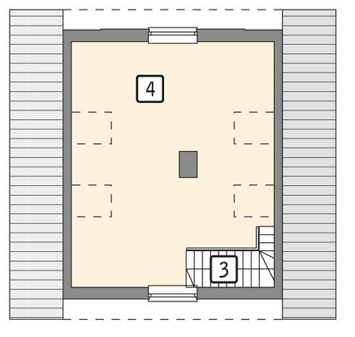 Rzut poddasza POW. 36,1 m²