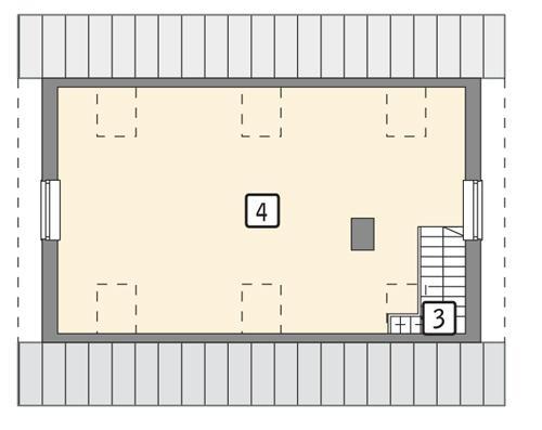 Rzut poddasza POW. 48,7 m²