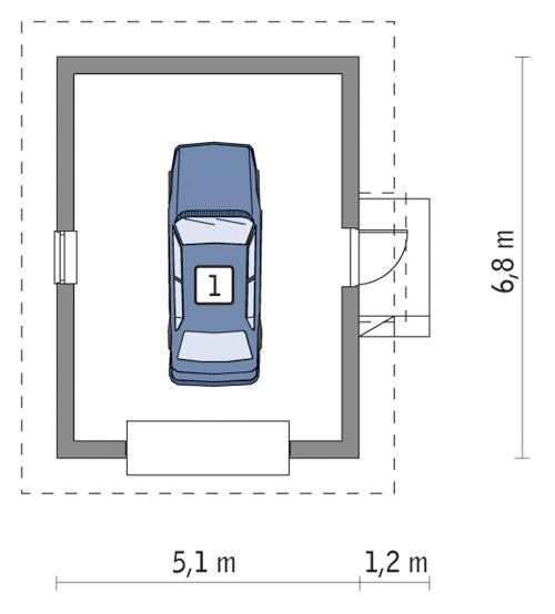 Rzut parteru POW. 28,2 m²