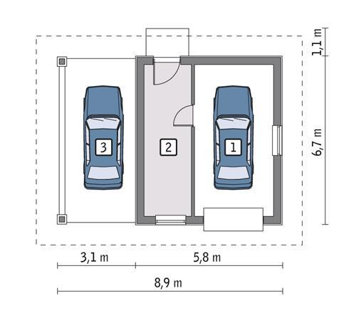 Rzut parteru POW. 30,0 m²