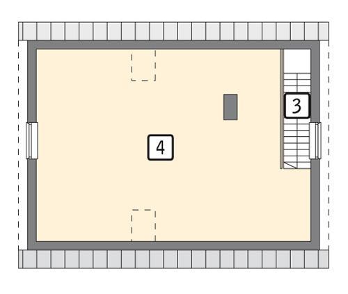 Rzut poddasza POW. 57,2 m²