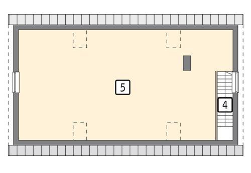 Rzut poddasza POW. 78,1 m²