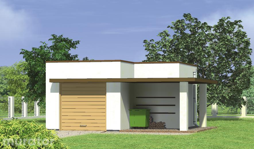 G33 Garaż z pomieszczeniem gospodarczym