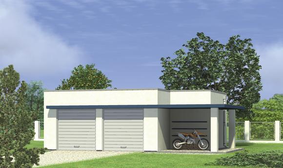 Garaż z pomieszczeniem gospodarczym