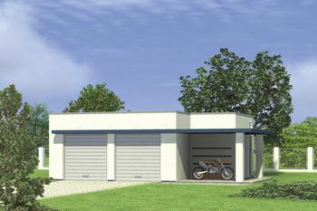 Garaż z pomieszczeniem gospodarczym G33a