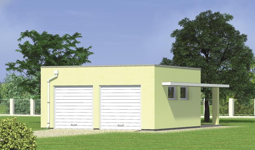 G33b Garaż z pomieszczeniem gospodarczym