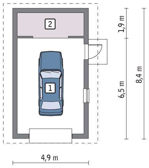 Rzut parteru POW. 32,4 m²