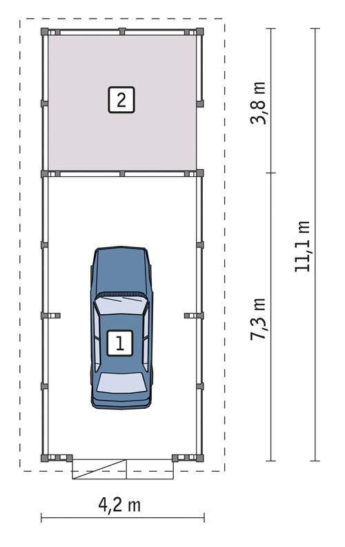 Rzut parteru POW. 38,5 m²