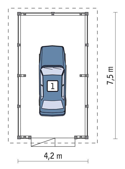 Rzut parteru POW. 25,3 m²