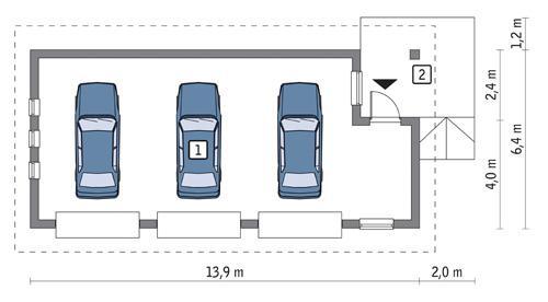 Projekt Garażu G46 Garaż Murator Projekty