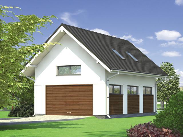 Garaże z funkcją mieszkalną lub poddaszem