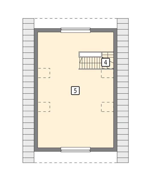 Rzut poddasza POW. 54,6 m²