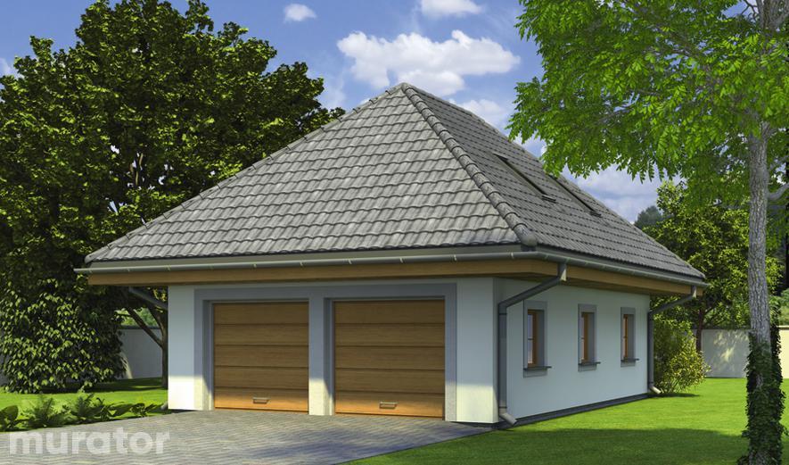 G51 Garaż z poddaszem i pomieszczeniem gospodarczym